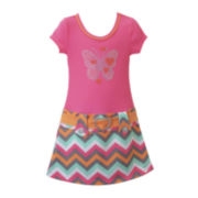 Lilt Chevron Butterfly Marsha Dress - Preschool Girls 4-6x
