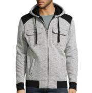 Chalc® Heather White Fleece Hooded Jacket