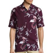 The Havanera Co.® Short-Sleeve Printed Rayon Shirt