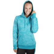 Jockey® Long-Sleeve Burnout Fleece Hoodie