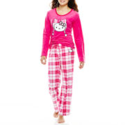Hello Kitty® Long-Sleeve Top and Pants Microfleece Pajama Set