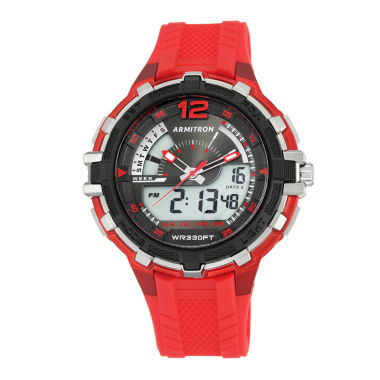 jcpenney.com | Armitron All Sport Mens Red Strap Watch-20/5134red