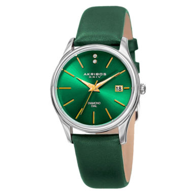 jcpenney.com | Akribos XXIV Womens Green Strap Watch-A-879gn