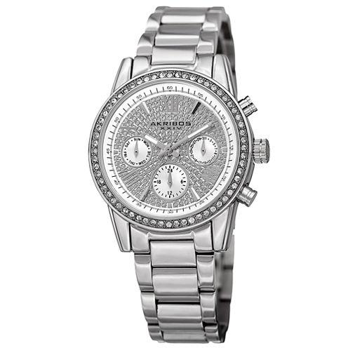 Akribos XXIV Womens Silver Tone Bracelet Watch-A-926ss