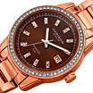 Akribos XXIV Womens Rose Goldtone Bracelet Watch-A-928rgbr