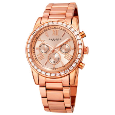 jcpenney.com | Akribos XXIV Womens Rose Goldtone Bracelet Watch-A-943rg