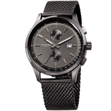 jcpenney.com | Akribos XXIV Mens Black Bracelet Watch-A-944gn
