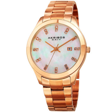 jcpenney.com | Akribos XXIV Womens Rose Goldtone Bracelet Watch-A-954rg
