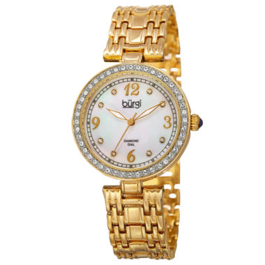 jcpenney.com | Burgi Womens Gold Tone Bracelet Watch-B-136yg