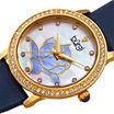 Burgi Womens Blue Strap Watch-B-159bu