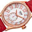 Burgi Womens Red Strap Watch-B-141rd