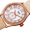 Burgi Womens Gold Tone Strap Watch-B-141nu