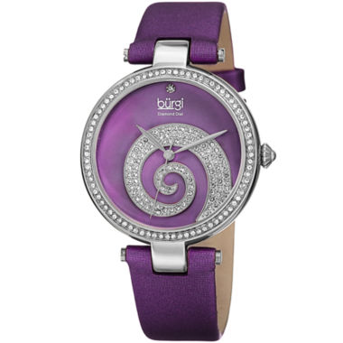 jcpenney.com | Burgi Womens Purple Strap Watch-B-143pu