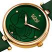 Burgi Womens Green Strap Watch-B-157gn-Bx