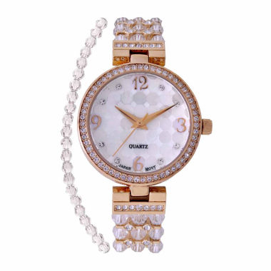 jcpenney.com | Croton Clear Swarovski Womens Clear 2-pc. Watch Boxed Set-Cn207563ylcr