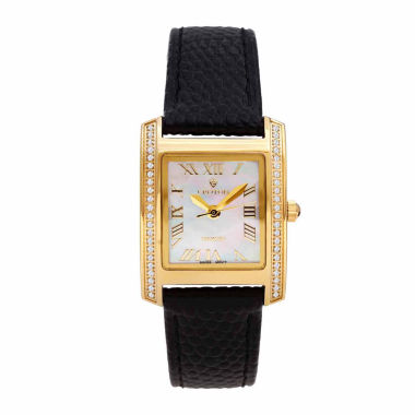 jcpenney.com | Croton Womens Black Strap Watch-Cn207057ylmp