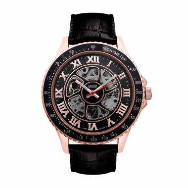 jcpenney.com | Croton Imperial Mens Black Strap Watch-Ci331094rgbk