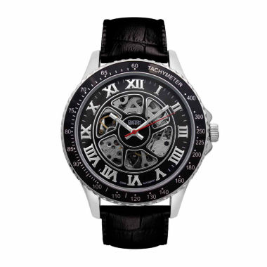 jcpenney.com | Croton Imperial Mens Black Strap Watch-Ci331094ssbk