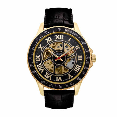 jcpenney.com | Croton Imperial Mens Black Strap Watch-Ci331094ygbk