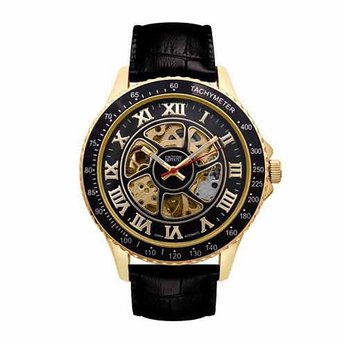 Croton Imperial Mens Black Strap Watch-Ci331094ygbk