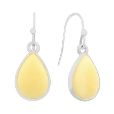 jcpenney.com | Liz Claiborne Yellow Drop Earrings