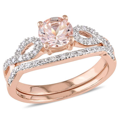 jcpenney.com | 1/3 CT. T.W. Pink Morganite 10K Gold Bridal Set