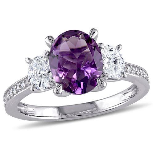 5/8 CT. T.W. Purple Amethyst 14K Gold Engagement Ring