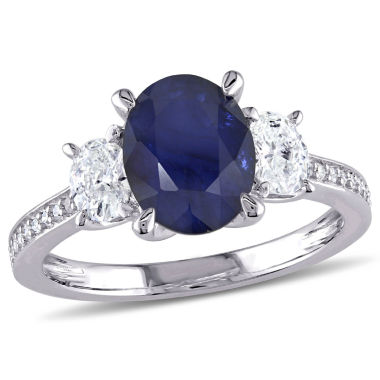 jcpenney.com | Womens 5/8 CT. T.W. Blue Sapphire 14K Gold Engagement Ring