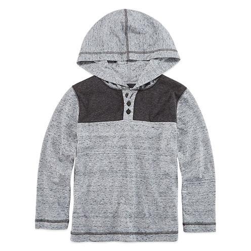 Arizona Boys Long-Sleeve Hooded T-Shirt - Preschool 4-7