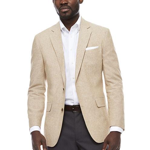 Stafford Linen Cotton Sand Sport Coat-Slim