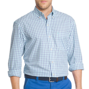 jcpenney.com | Izod Long Sleeve Essential Tattersal Button Front Shirt
