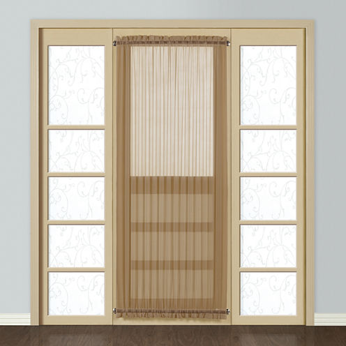 United Curtain Co. Montecarlo Rod-Pocket Door Panel Curtain