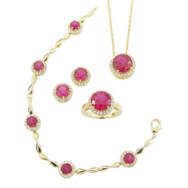 jcpenney.com | Lab-Created Ruby & Cubic Zirconia 4-pc. Jewelry Set