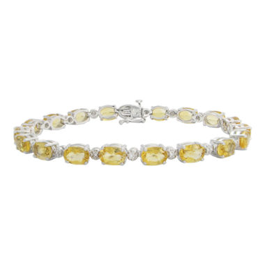 jcpenney.com | Genuine Citrine & Diamond Accent Tennis Bracelet