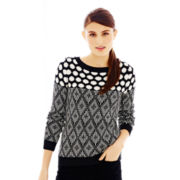 Joe Fresh™ Mixed-Pattern Sweater