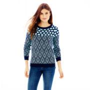 Joe Fresh™ Mixed-Pattern Sweater