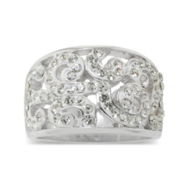 jcpenney.com | Sparkle Allure Crystal Scroll Ring