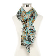 Exotic Print Oblong Scarf