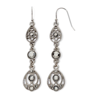 jcpenney.com | Liz Claiborne® Marcasite Linear Earrings