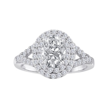 jcpenney.com | Lab-Created White Sapphire Double Halo Sterling Silver Ring