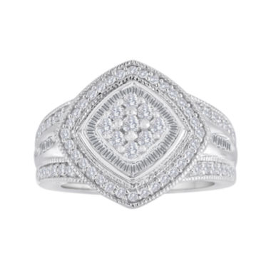 jcpenney.com | 3/4 CT. T.W. Diamond Sterling Silver Frame Ring