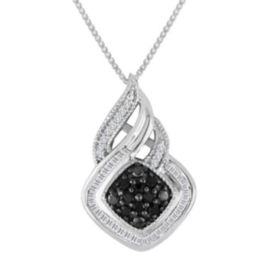 jcpenney.com | 1/3 CT. T.W. White & Color-Enhanced Black Diamond Sterling Silver Pendant
