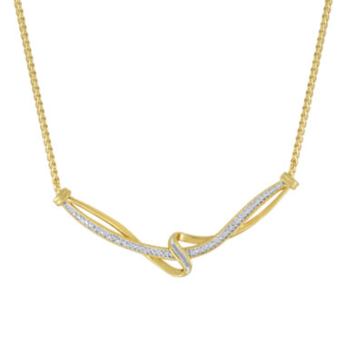 jcpenney.com | 1/10 CT. T.W. Diamond 14K Yellow Gold Over Sterling Vintage Twist Necklace