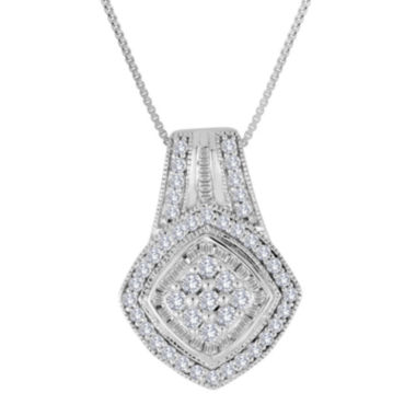 jcpenney.com | 3/4 CT. T.W. Diamond Sterling Silver Frame Pendant