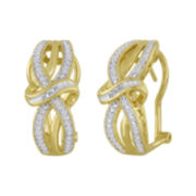 1/10 CT. T.W. Diamond 14K Yellow Gold Over Sterling Vintage Twist Earrings