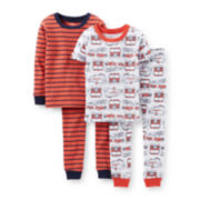Carter's® 4-pc. Fire Truck Pajama Set - Boys 6m-24m