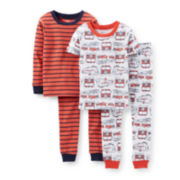 Carter's® 4-pc. Fire Truck Pajama Set - Boys 2t-5t