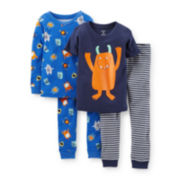 Carter's® 4-pc. Monster Pajama Set - Boys 2t-5t