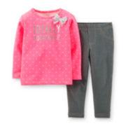 Carter's® Long-Sleeve Tee and Leggings Set – Girls newborn-24m
