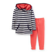 Carter's® Striped Hoodie and Leggings Set – Girls newborn-24m